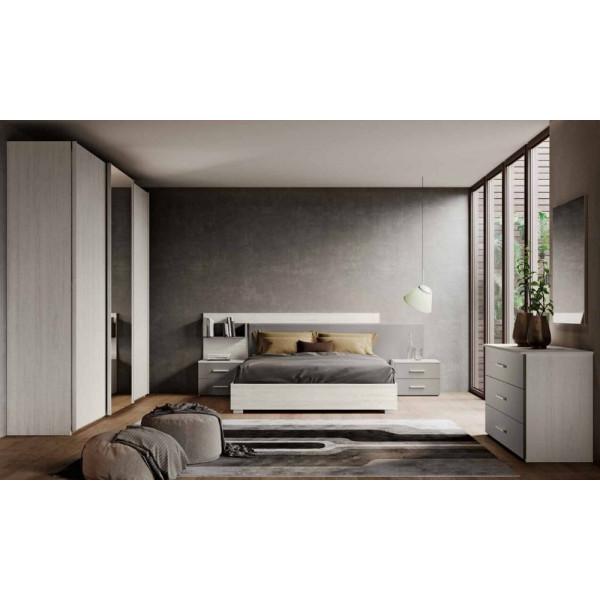 Camera da letto Erica, completa di armadio 3 ante scorrevole, letto contenitore