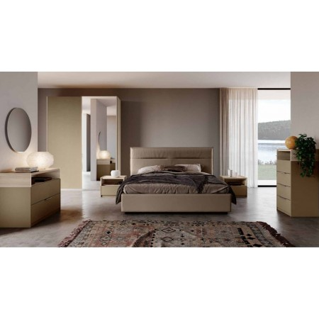 Tina bedroom, complete with wardrobe with sliding doors and container bed