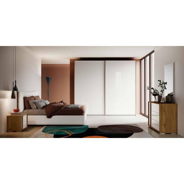 Chambre Itaca, complète avec armoire à 2 portes coulissantes, lit conteneur