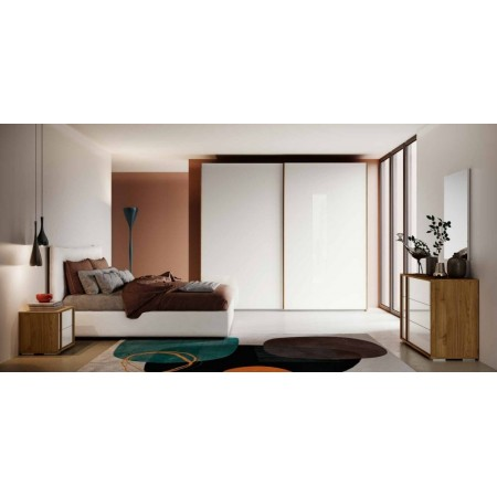 Itaca room, complete with wardrobe with 2 sliding doors, container bed