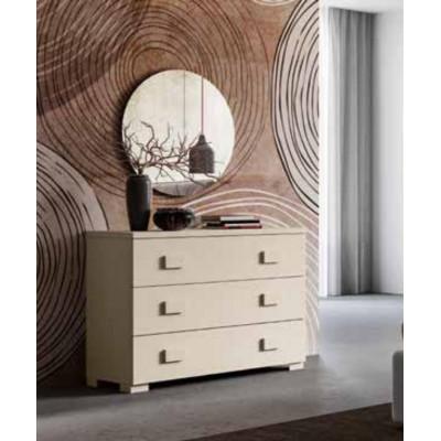 Camera Ambra, completa di armadio con specchio, letto contenitore