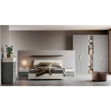 Brenda room, complete with wardrobe with bookcase, container bed