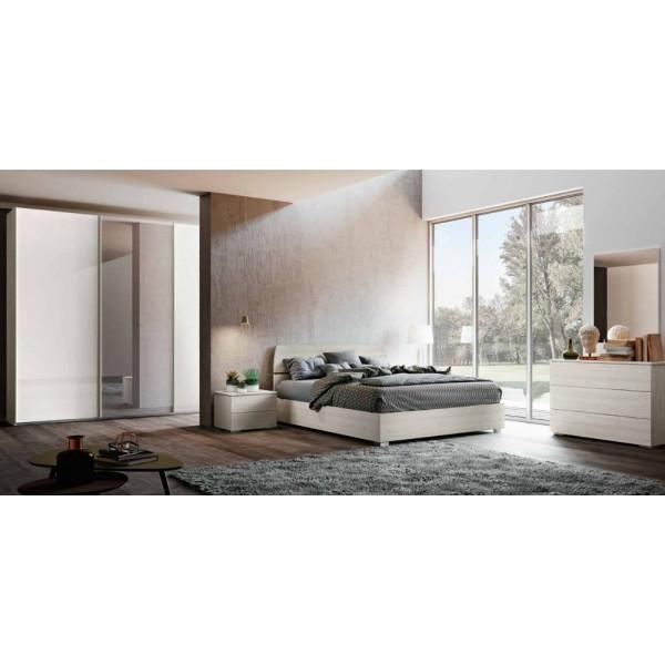 Camera da letto Liana, completa di armadio ante scorrevoli, letto contenitore