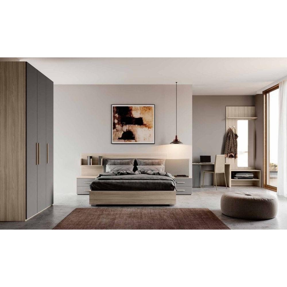 Camera Viola, armadio e scrivania porta