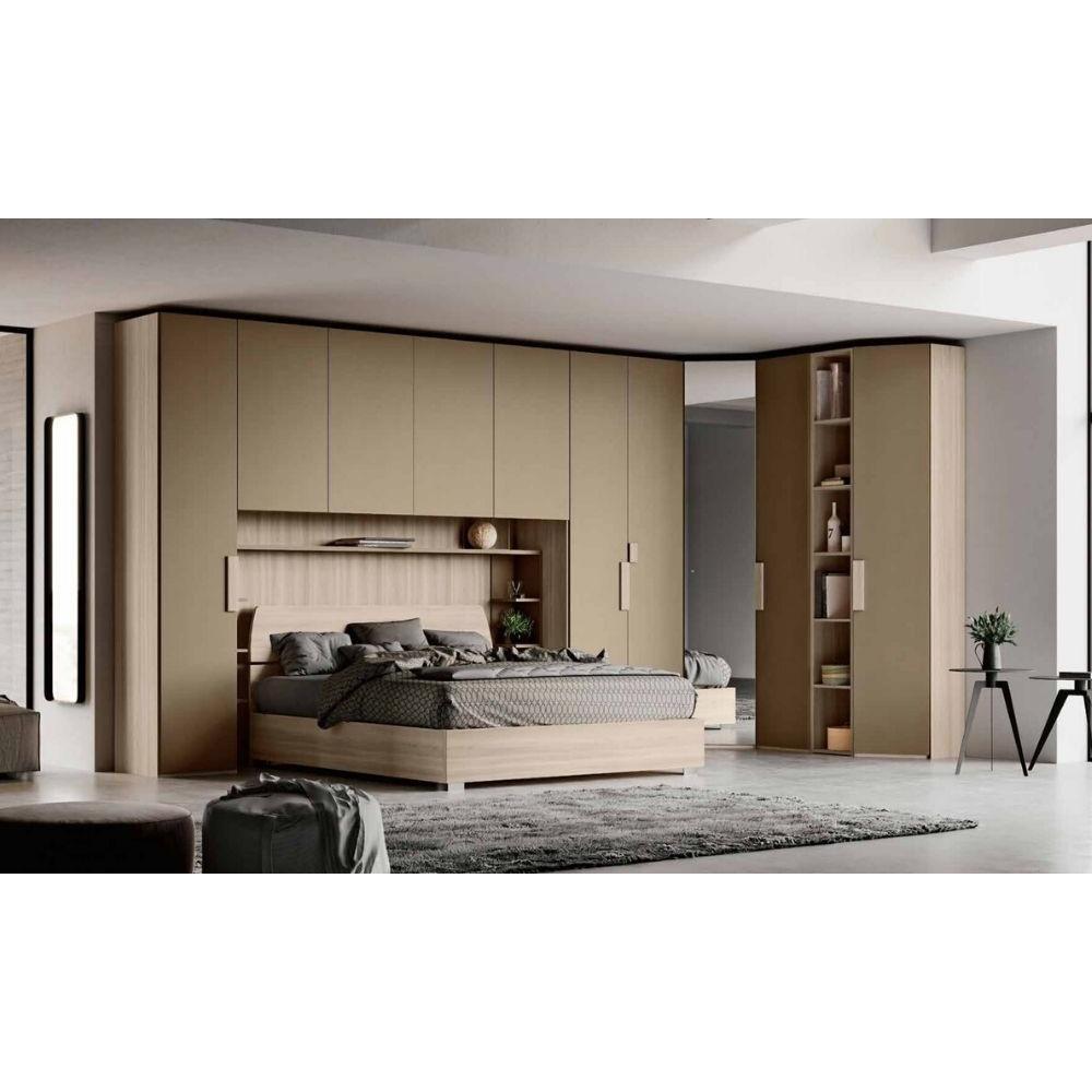 Cora bedroom, bridge wardrobe, bookcase