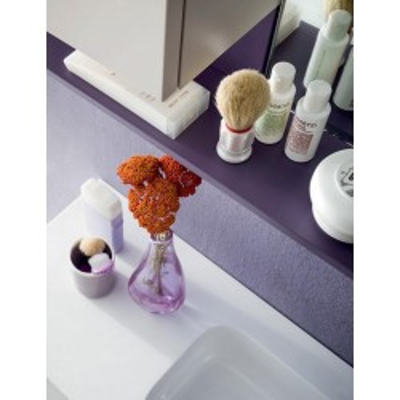 Boris bathroom, depth 35 cm, space-saving, matt hemp color, matt iris