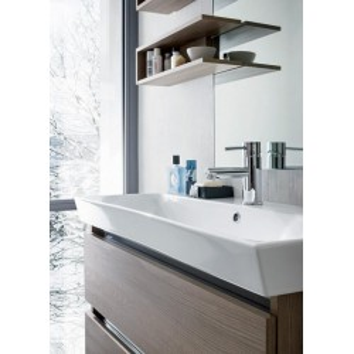 Salle de bain Ivo, gain de place, profondeur 35 cm, couleur orme frêne