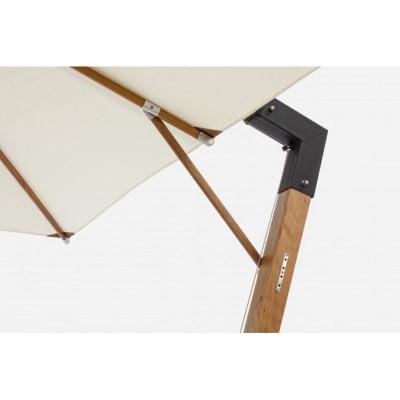Capua arm umbrella, 3X3 ecru color,