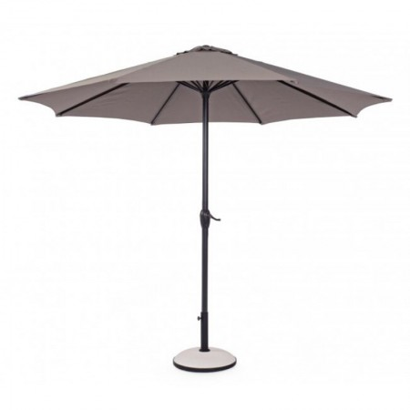 Kalife 3M umbrella, anthracite steel structure, dove gray polyester fabric