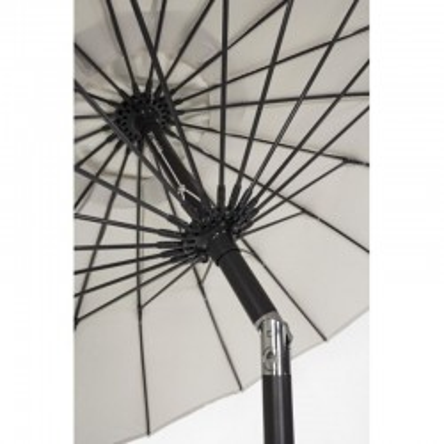 Atlanta 2.7M umbrella in painted aluminum, natural color canvas