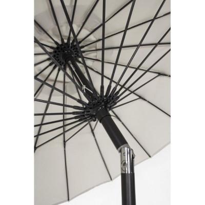 Parapluie Atlanta 2.7M en aluminium peint, toile couleur naturelle