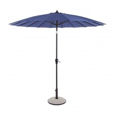 Atlanta 2.7M umbrella in painted aluminum, blue fabric