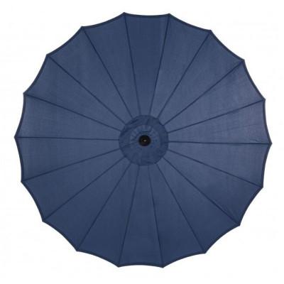 Parapluie Atlanta 2.7M en aluminium peint, tissu bleu