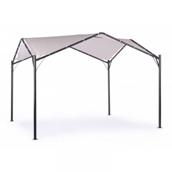 Gazebo Dome 3.5X3.5 struttura in acciaio antracite, telo in poliestere colore grigio