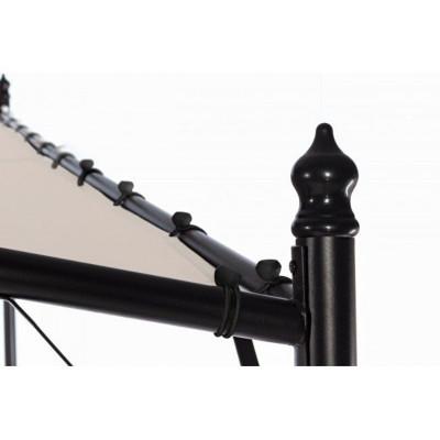 Gazebo vela Gerba 3X3 struttura in acciaio, telo in poliestere colore tortora