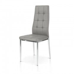 Sidney chair with metal frame and eco-leather seat, 6 pcs packaging.
