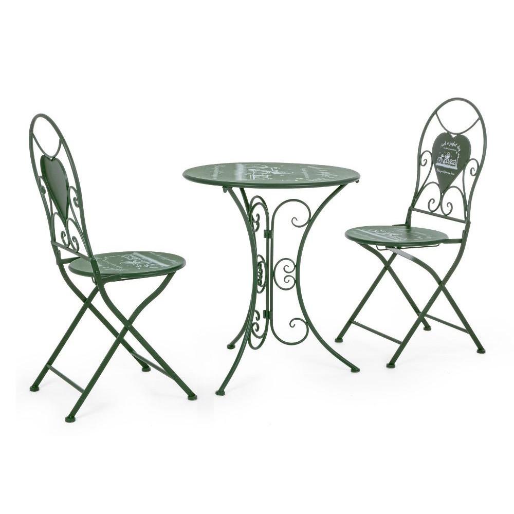 Bistrot Park set tavolo e 2 sedie da