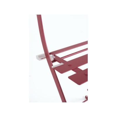 Bistrot Wissant Scarlet set tavolo e 2 sedie da esterno in acciaio