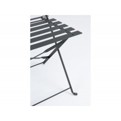 Bistrot Wissant Anthracite outdoor table