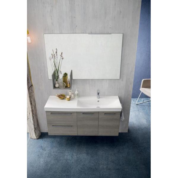 Kevin bathroom, space-saving 35 cm depth, Light Gray Oak color