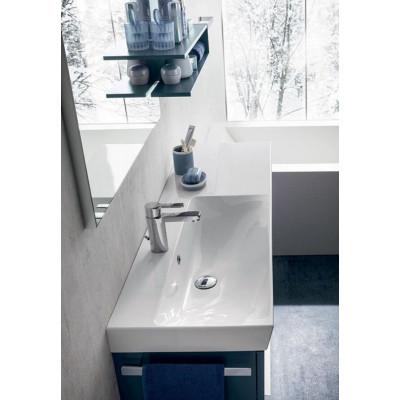 Calisto bathroom Depth 35 cm space-saving, Ideal color, Cerulean Opaque