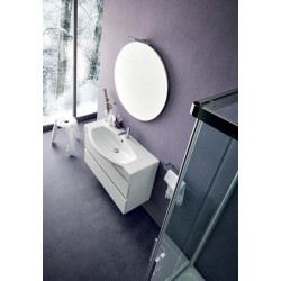 Salle de bain Deo, gain de place 35 cm de profondeur, coloris Blanc Brillant