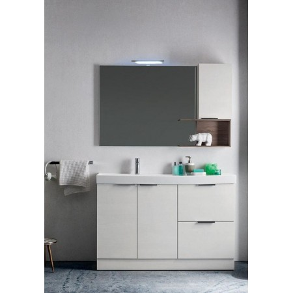 Egan bathroom, space-saving 35 cm depth, Ash Elm, White Elm color