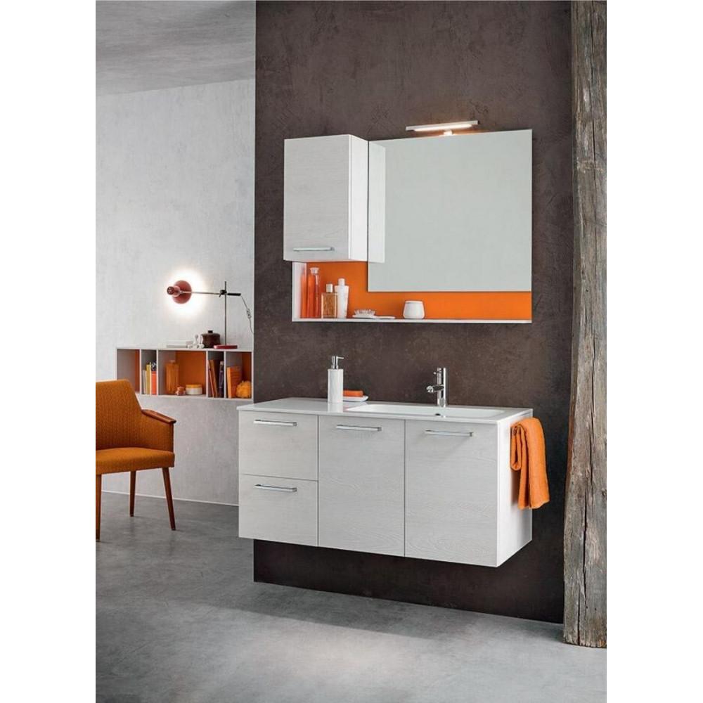 Sirio bathroom depth 45, Knotted White