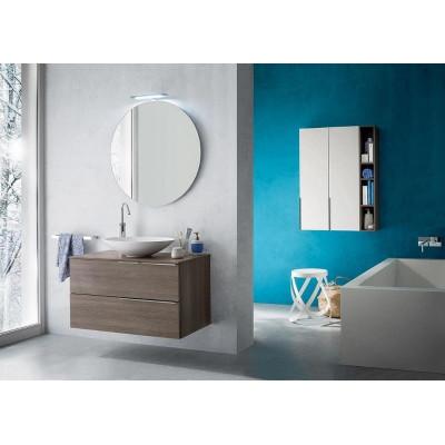 Salle de bain Ares profondeur 45 cm, coloris Orme Frêne