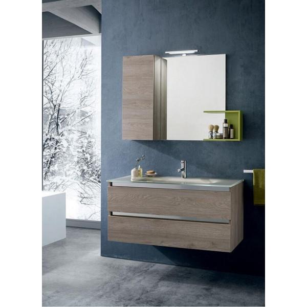 Torino bathroom depth 50 cm, Nodato Creta color, Kiwi lacquered