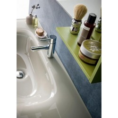 Salle de bain Torino profondeur 50 cm, coloris Nodato Creta, laqué Kiwi