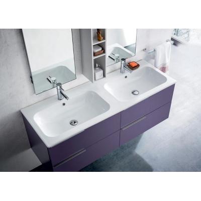 Salle de bain Lido profondeur 50 cm, couleur Iris Mat, Blanc Mat