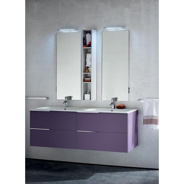 Lido bathroom depth 50 cm, color Iris Matt White