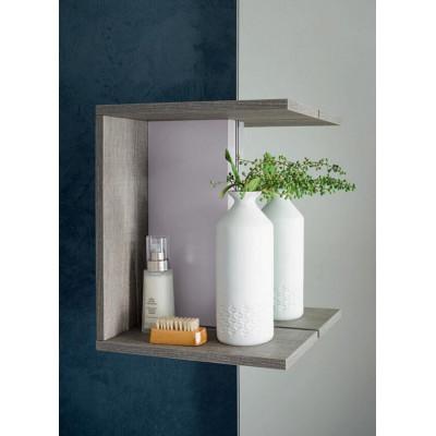 Sondrio bathroom depth 50 cm, color Light Gray Oak, Matt Hemp