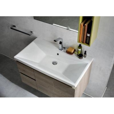 Lex bathroom depth 50 cm, knotted oak color, Matt Kiwi