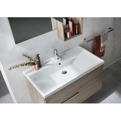 Linus bathroom depth 50 cm, Materic Nodato Terra color