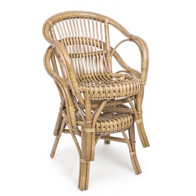 Rattan outdoor armchair, with cushion CC