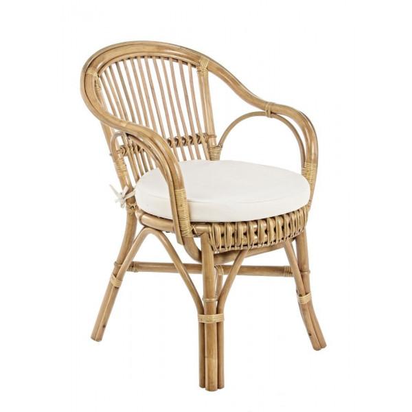 Rattan outdoor armchair, with cushion CC Barina New x 4 pcs.