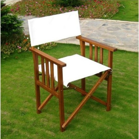 Amicasa outdoor armchair Eucalyptus wood structure, polyester seat and back x 2 pcs.