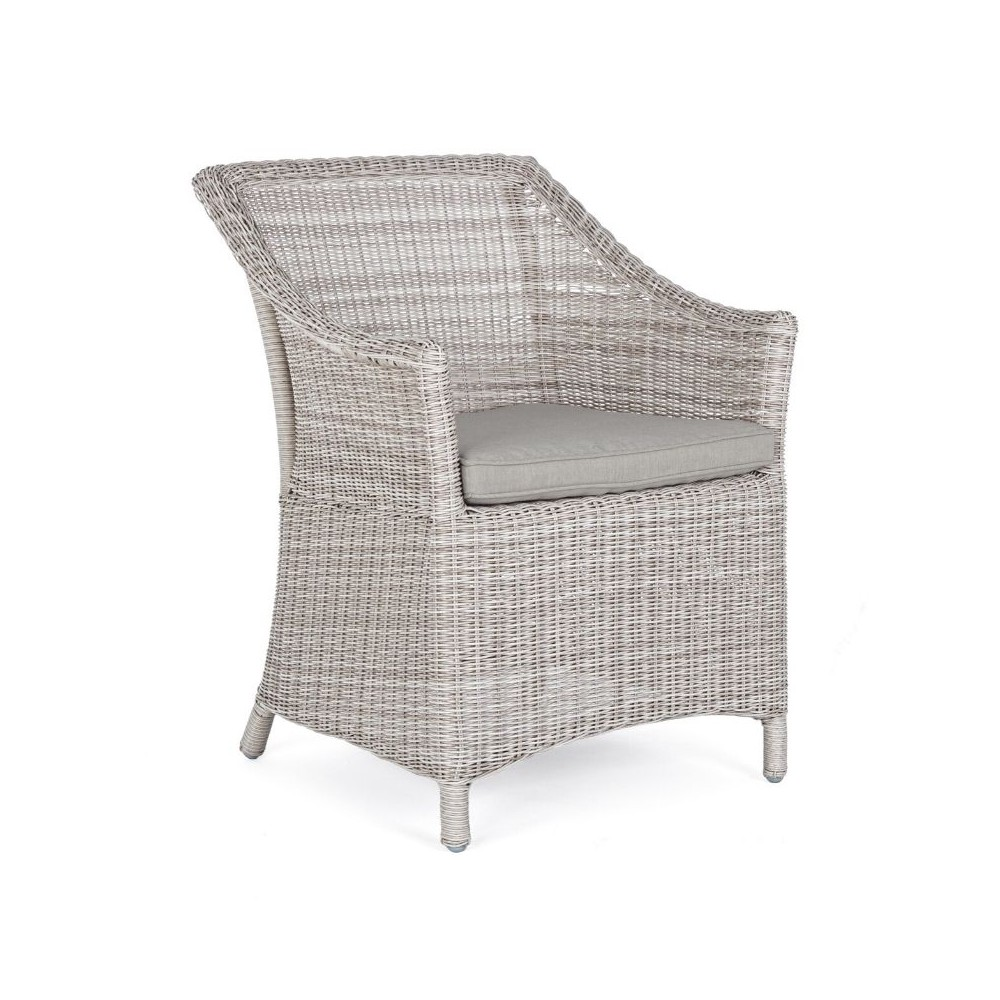Dolphin armchair with armrests, aluminum