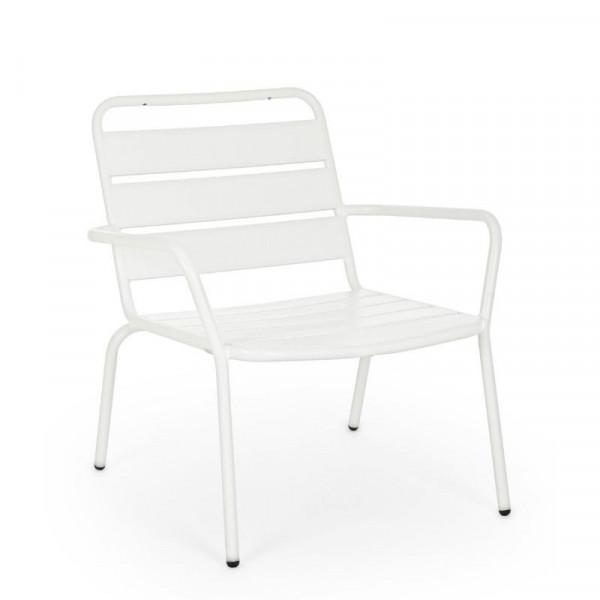 Poltrona da esterno Marlyn in acciaio, colore bianco, x 2 pz