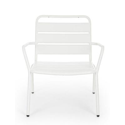 Fauteuil d'extérieur Marlyn en acier, coloris blanc, x 2 pcs
