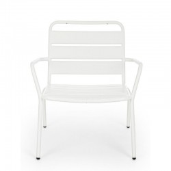 Marlyn outdoor armchair in steel, white color, x 2 pcs