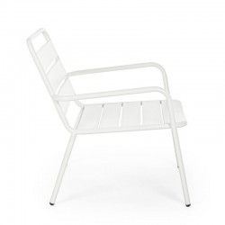 Marlyn outdoor armchair in steel, white