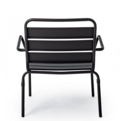 Marlyn outdoor armchair in steel, anthracite color, x 2 pcs