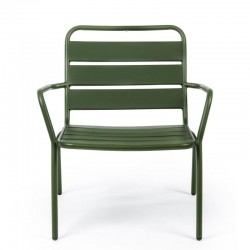Marlyn Forest outdoor armchair in steel, green color, x 2 pcs