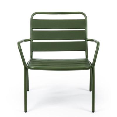 Poltrona da esterno Marlyn Forest in acciaio, colore verde, x 2 pz