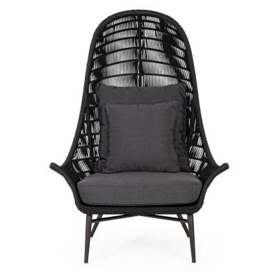 Chaise longue CC Tablita, en aluminium, Tissé en corde hydrofuge