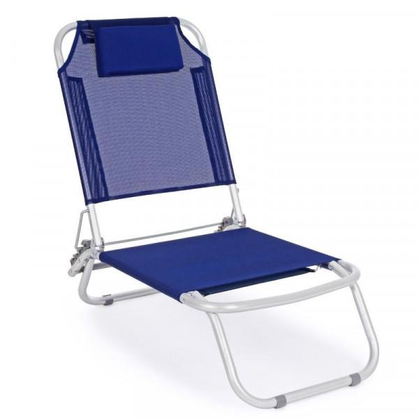 Spiaggina relax Ocean colore blu, Struttura in alluminio, x 6 pz