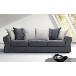 Parker 3 seater sofa, in removable fabric, with solid fir wood structure
